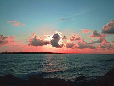 Sunset in Tylösand, Sweden