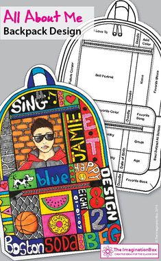Backpack Activities Back To School Create a 'Backpack About Me' multi page booklet. Get to know upper elementary and middle school kids with this fun art and writing classroom … All About Me Activities, First Day Of School Activities, Get To Know You Activities, Writing Activities, Back To School Art Activity, Fun Classroom Activities, Art School, School Kids, Primary School Art