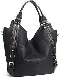 JOYSON Women Handbags Hobo Shoulder Bags Tote PU Leather Handbags Fashion  Large Capacity Bags Apricot  Handbags  Amazon.com 1d94e28be3aea