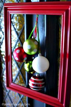 It's a front door wreath, but I would hang these on the walls inside. Very pretty