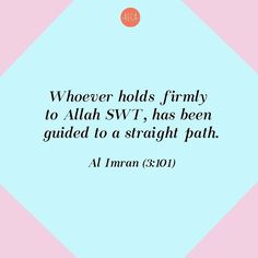 Because trusting and relying on Allah SWT are the basis of achieving the right guidance. Allah Quotes, Muslim Quotes, Quran Quotes, Arabic Quotes, Islamic Quotes, Quran Verses, Holy Quran, Deen, Peace And Love
