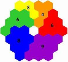 On peut évoquer une harmonie quantitative dans les couleurs complémentaires et secondaires en utilisant : 8,3 % de jaune 11,1 % d'orangé 16,7 % de rouge 16,7 % de vert 22,2 % de bleu 25 % de violet
