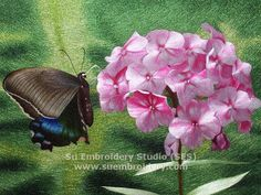 Silk embroidery, all hand embroidered with silk threads on silk from Su Embroidery Studio