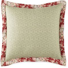 Home Expressions™ Cassandra Euro Sham ($42) ❤ liked on Polyvore featuring home, bed & bath, bedding, bed accessories, floral bedding and cotton bedding