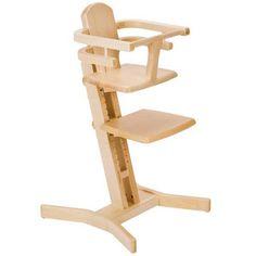 chaise haute évolutive en bois massif