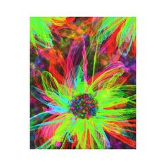 Gorgeous Flower Abstract Wrapped Canvas Canvas Prints