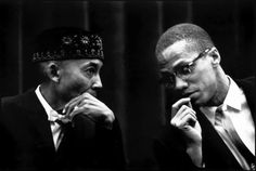 Eve Arnold - Black Muslims meeting held at the International Amphitheater. Elijah Muhammad and Malcolm X. (USA - Chicago, 25th February 1962...