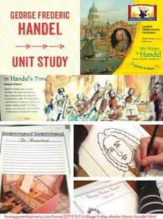 Handel Unit Study - homeschool music ideas from Homegrown Learners
