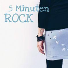 GrinseStern, 5 Minuten Rock, DIY, Tutorial,GrinseStern Stoffe