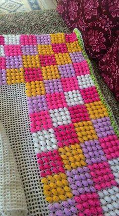 Knit Pillow Plastic Canvas Crafts Crochet Art Crochet Patterns Handmade Rugs Rugs On Carpet Hand Knitting Caregiver Needlepoint Plastic Canvas Stitches, Plastic Canvas Crafts, Plastic Canvas Patterns, Pom Pom Crafts, Yarn Crafts, Braided Rag Rugs, Knit Rug, Latch Hook Rugs, Deco Boheme