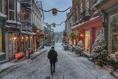 Winter Getaway Christmas in Quebec City - Quartier Petit Champlain, Christmas in Quebec City