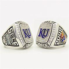 Custom 2008 Kansas Jayhawks National Championship Ring - University