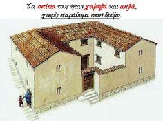 Τετάρτη στο ... Τέταρτο!: Η καθημερινή ζωή και η εκπαίδευση των Αθηναίων Greek, House, Home, Greece, Homes, Houses