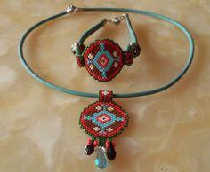 Peyote bracelet-necklaces beaded bracelet-necklaces by ANASIS