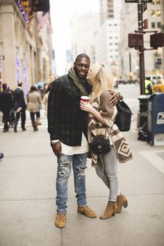 Taylor Madu--Love the big sweater and the boots and the color of the jeans