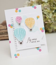 Time After Time Challenge - Fly Away With Me Card by Ashley Cannon Newell for Papertrey Ink (August 2014)