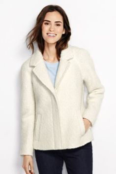 Women's Boucle Wool Jacket from Lands' End