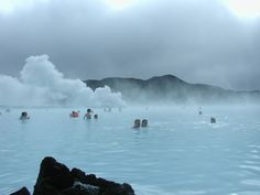 Iceland's Blue Lagoon Georthermal Spa holds geothermal sea water heated to jacuzzi water temps / beneath the ground. The water, rich in silica and other minerals, is renew… Oh The Places You'll Go, Places To Travel, Places To Visit, Dream Vacations, Vacation Spots, Ecuador, Iceland In January, Blue Lagoon Spa, New York Weather