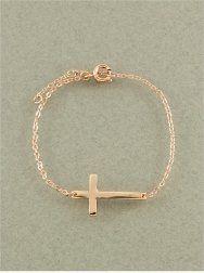 Designer Inspired Sideway Side Cross Rhinestone Bracelet, Rose Gold Color Hail Mary Gifts, http://www.amazon.com/dp/B009RULFDU/ref=cm_sw_r_pi_dp_BTtSqb0GZRHQM
