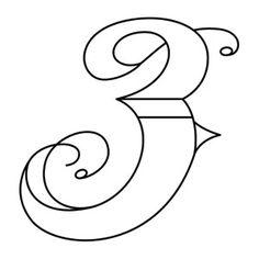 Fresh, creative designs and tutorials for machine and hand embroidery. Embroidery Fonts, Hand Embroidery, Embroidery Designs, Number Stencils, Letter Stencils, Fancy Letters, Letters And Numbers, Tattoo Alphabet, Celtic Alphabet