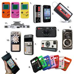Kick it old-school with these retro tech-inspired iPhone cases.