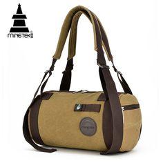 MINGTEK Canvas Men Travel Bags Women Vintage Travel Bags 2017 Fashion Leisure Duffle Bag Large Capacity Handbags Travel Backpack