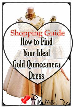 Gold Quinceanera dress - The biggest element of the quinceanera for a girl turning fifteen is the dress! The best quinceanera dress makes the birthday girl feel like royalty. Different Patterns, Quinceanera Dresses, Unique Dresses, Timeless Beauty, Dress P, Cool Suits, Body Types, Dress Making, Big Day