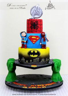 Designed this ‎Birthday Cake for a five year old who is completely into Super Heroes and loves the Hulk. Loved designing this one… the inspiration of which came from the work of Ann-Marries. My cli...