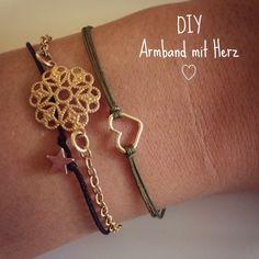 DIY Weihnachtsgeschenk Armband mit Herz