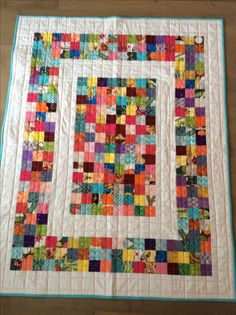Gifted Xmas 2016.     Scrap quilt...2 inch squares (January 2016)