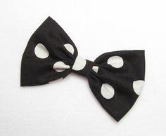 Black+Polkadots+Bow++black+hair+bow+white+hair+bow+by+JuicyBows,+$5.99