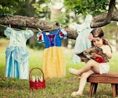 OMG........I so want this pic set-up for my girls & could be done with super hero costumes for little boys!