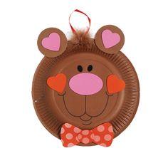 Paper Plate Valentine Bear Craft Kit