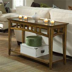 Andorra Sofa Table - Oak | Shopping in Riverside Furniture Living Room