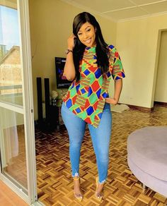 40 Pictures Of The Latest Ankara Tops With Jeans Style African Fashion Ankara, Latest African Fashion Dresses, Ghanaian Fashion, African Dresses For Women, African Print Dresses, African Print Fashion, African Attire, African Wear, African Prints
