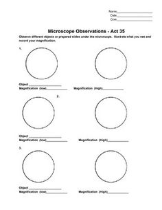 Printables Microscope Lab Worksheet introductory microscope lab student the ojays and teaching observation sheet