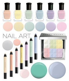 """""""Pastel Nails"""" by ssm1562 ❤ liked on Polyvore featuring beauty, Deborah Lippmann, Bobbi Brown Cosmetics, shu uemura, Butter London, Jin Soon, Essie, Smith & Cult and pastelnails"""