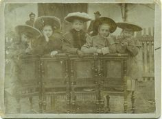 Unknown (Hungary): Girls & chairs. Around 1900. by valtertorjay, via Flickr