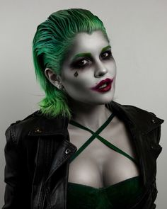 Make Heath Ledger proud with a joker look that seriously rivals that of the his own iconic film character.