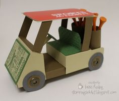 FORE!!!! :: Confessions of a Stamping Addict golf cart pattern $3.95