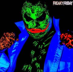 "Freaky Friday Written by @tiff_tantrum ""Madness as you know is like gravity all it takes is a little push."" Check out @therealnerfjoker Neon Joker!!! I just LOVE all of his awesome Joker creations!!! He is an amazing artist and will be a guest at Morbius Corpus Horror Fest where he will be doing a live makeup demo!!!! Congrats my friend!!! Go show him some love!!!! - - Follow our friends @amateurgeekspodcast @teamashen @cosplay_and_babes @cosmodels_and_glamourgeeks - - #cosplaymakeup…"