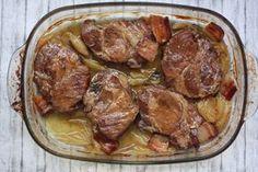 Pomaly pečená krkovička so slaninou a cibuľou – Varíme Paleo Polish Recipes, Russian Recipes, Ham, Pork, Paleo, Cooking, Ethnic Recipes, Health, Kitchen