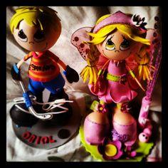 Fofucha hada y Fofucho hockey, muñecas personalizadas
