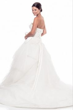 KCW1529 Tulle Applique Chapel Train Wedding Dress by Kari Chang Eternal Off  White Dresses 941adc234