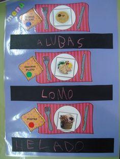 """Confeccionando menús Para trabajar la lecto-escritura de forma espontánea y dentro de nuestro proyecto """"Master Chef Junior"""", les he hec... Master Chef, Reggio Emilia, Healthy Kids, School Projects, Family Guy, Writing, Fictional Characters, Project Ideas, Classroom Ideas"""