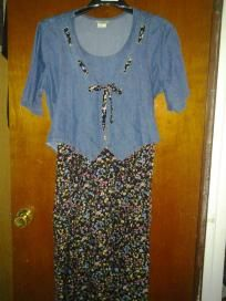 Blue jeans. V cute dress for her size 16 free ship for $14.99 mint