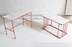 HomeMade Modern DIY Copper Marble Table Options 54 Perfect Interior Design You Will Definitely Want To Save – HomeMade Modern DIY Copper Marble Table Options Source Copper Furniture, Pipe Furniture, Furniture Projects, Modern Furniture, Furniture Removal, Furniture Online, Discount Furniture, Copper Coffee Table, Diy Coffee Table