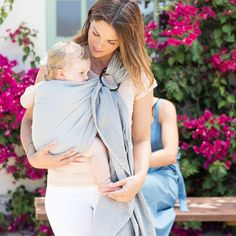 Moby Wrap Ring Sling In Silver Streak - Combining simplicity and style, the elegant Moby Ring Sling helps make carrying your little one breezy and easy. The sling is adjustable and customizable, making it safe and simple to carry around your baby. Moby Wrap, Ring Sling, Baby Grows, Cotton Fabric, Woven Cotton, Baby Wearing, Kids And Parenting, Different Styles, Snug