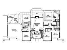 Discover the Pomona Park Southwestern Home that has 3 bedrooms, 2 full baths and 1 half bath from House Plans and More. See amenities for Plan Large Laundry Rooms, Southwestern Home, Adobe House, Stucco Exterior, House Plans And More, Mediterranean Design, Garden Tub, Square Feet, Floor Plans