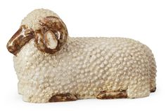 A Michael Schilkin stoneware sculpture of a sheep, Arabia, Finland ...